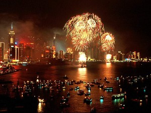 Hong Kong Chinese New Year Fireworks